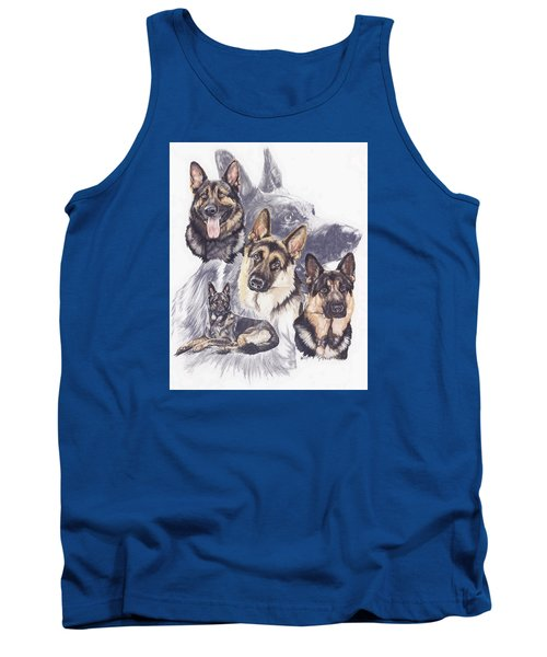 Tank Top featuring the mixed media German Shepherd Medley by Barbara Keith