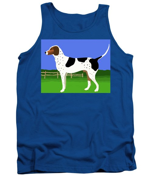 Tank Top featuring the painting German Shorthaired Pointer In A Field by Marian Cates