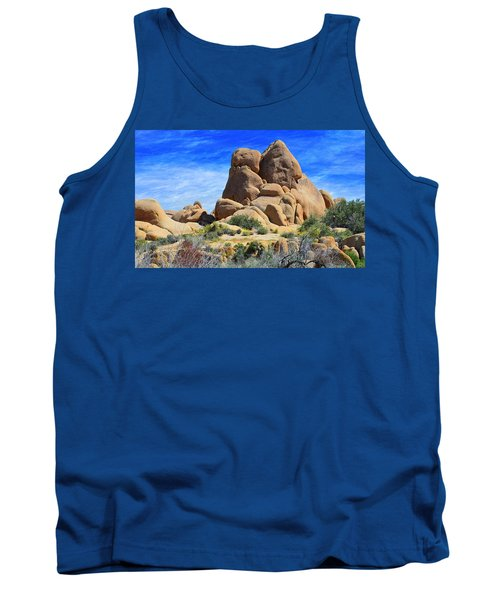 Tank Top featuring the photograph Ghost Rock - Joshua Tree National Park by Glenn McCarthy Art and Photography