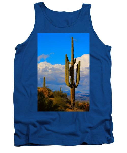 Giant Saguaro In The Southwest Desert  Tank Top