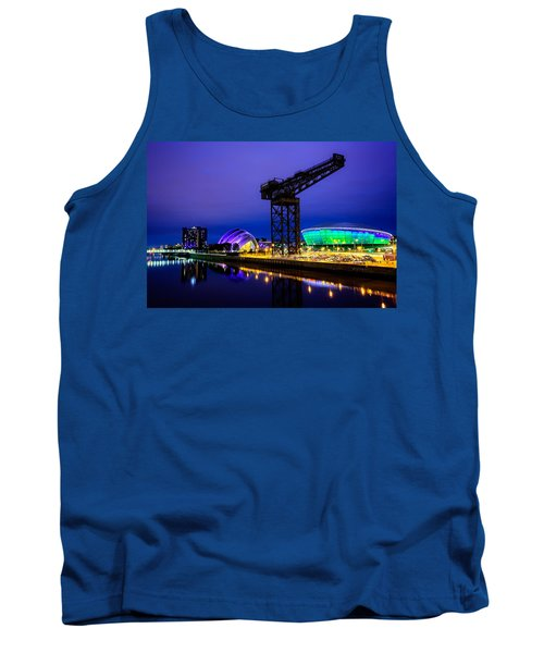 Glasgow At Night Tank Top by Ian Good