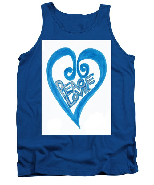Global Peace And Love Heart Tank Top
