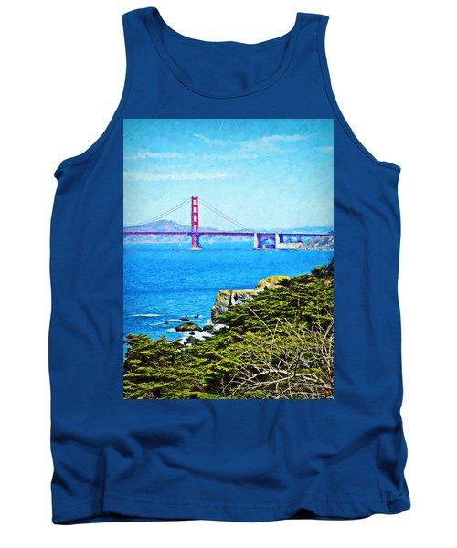 Golden Gate Bridge From The Coastal Trail Tank Top