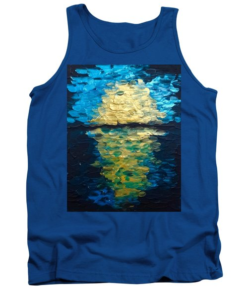 Golden Moon Reflection Tank Top