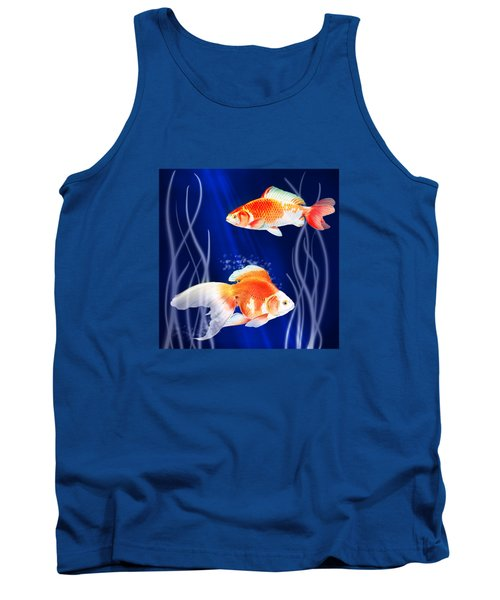 Goldfish Aglow Tank Top by Little Bunny Sunshine
