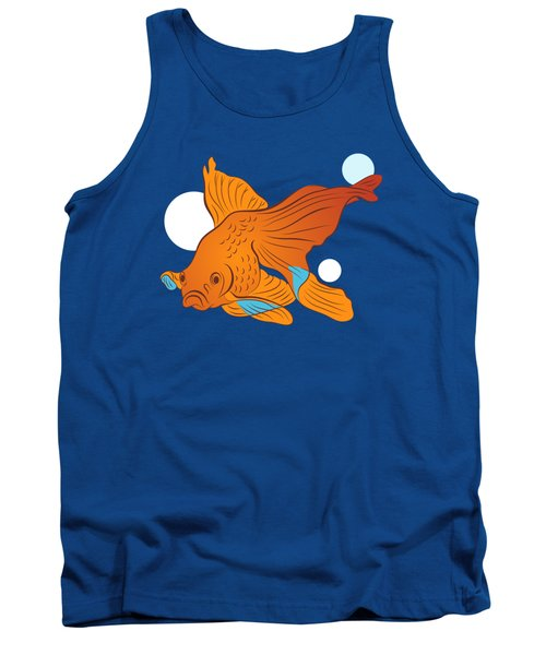 Goldfish And Bubbles Graphic Tank Top
