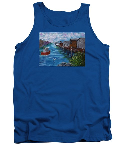 Good Day Fishing Tank Top by Mike Caitham