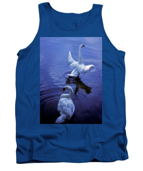Tank Top featuring the photograph Graceful Swans by Marie Hicks