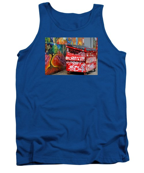 Grafitti And Trash Tank Top by Ranjini Kandasamy