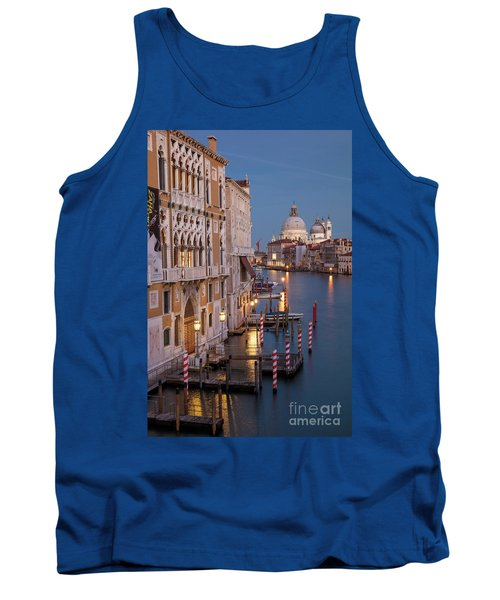 Tank Top featuring the photograph Grand Canal Twilight II by Brian Jannsen