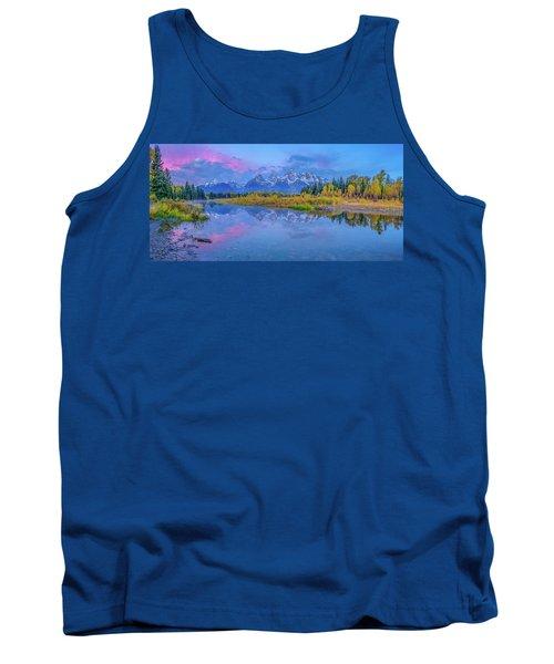 Grand Teton Sunrise Panoramic Tank Top