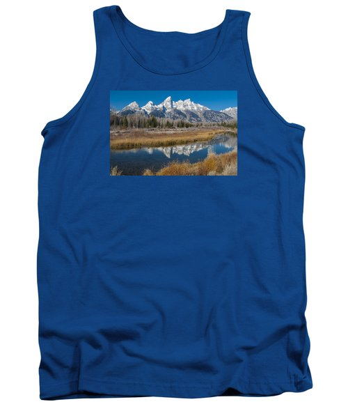 Tank Top featuring the photograph Grand Tetons by Gary Lengyel