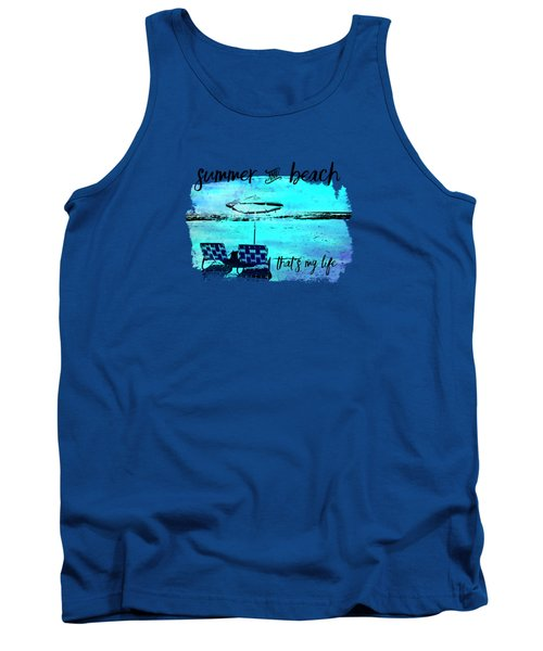 Graphic Art Summer And Beach Tank Top