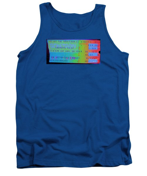 Grateful Dead - Ticket Stub Tank Top by Susan Carella