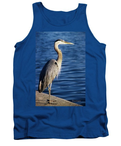 Tank Top featuring the photograph Great Blue Heron At Put-in-bay by Terri Harper