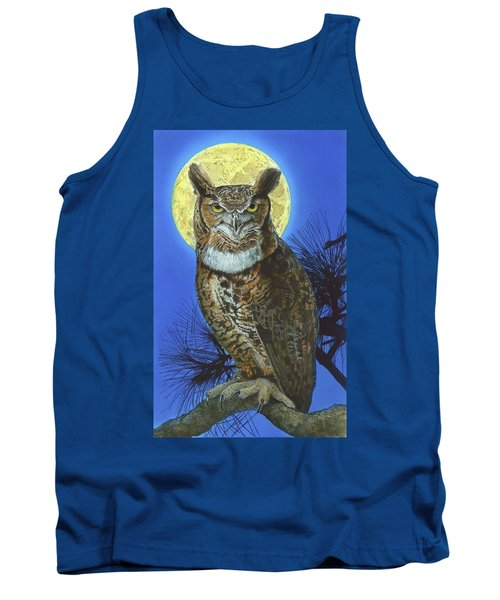 Great Horned Owl 2 Tank Top