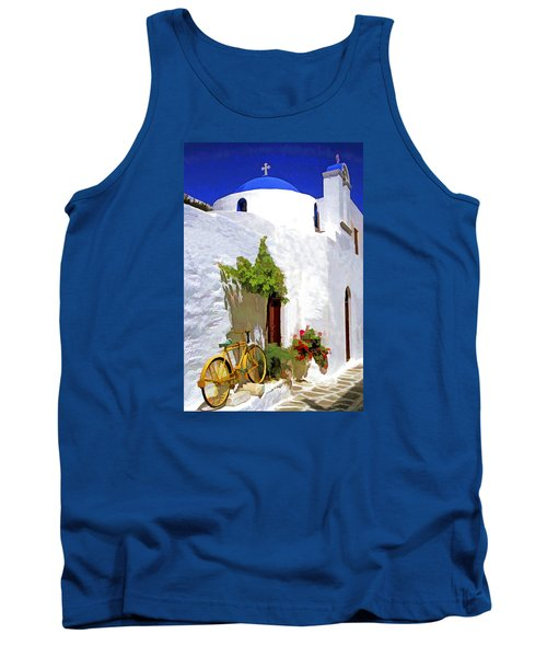 Greek Church With Bike Tank Top