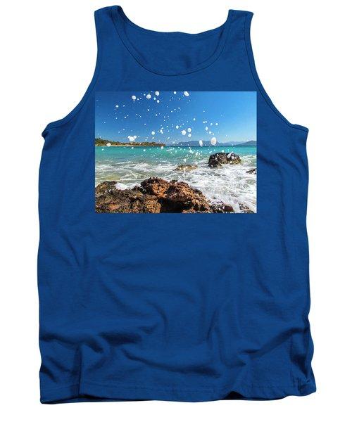 Greek Surf Spray Tank Top