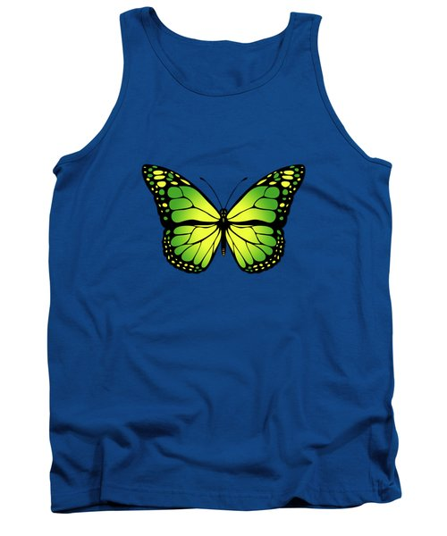 Green Butterfly Tank Top