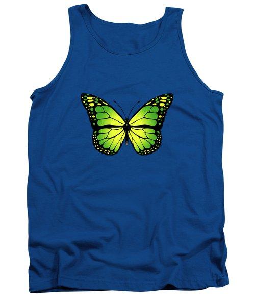 Green Butterfly Tank Top