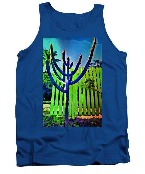 Green Fence Tank Top