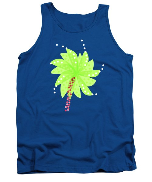 Green Flowers In The Wind Tank Top