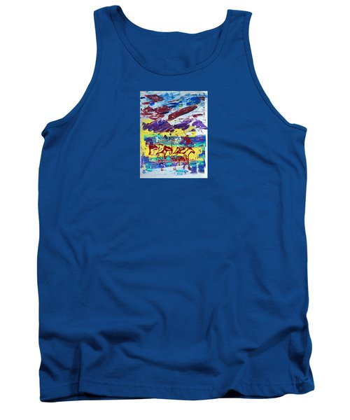 Green Pastures And Purple Mountains Tank Top