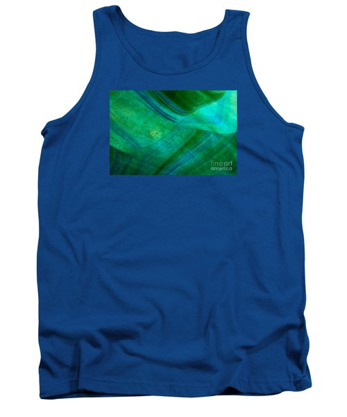 Green Wave Tank Top