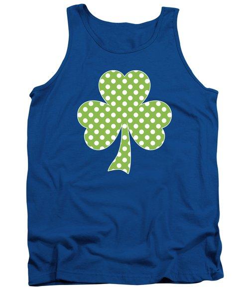 Greenery Shamrock Clover Polka Dots St. Patrick's Day Tank Top