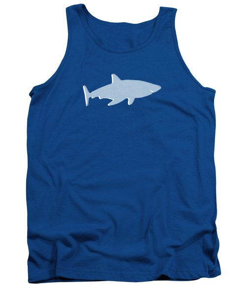 Tank Top featuring the mixed media Grey And Yellow Shark by Linda Woods