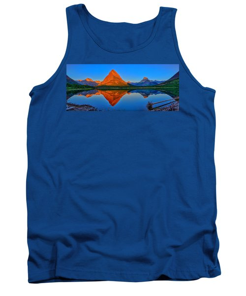 Grinnell Point Alpenglow Panorama Tank Top