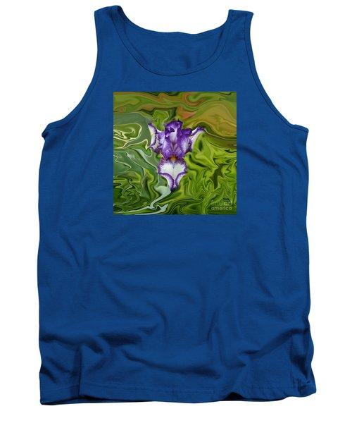 Groovy Purple Iris Tank Top