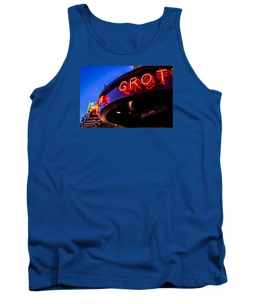 Tank Top featuring the photograph Grotto - Night View by Lora Lee Chapman