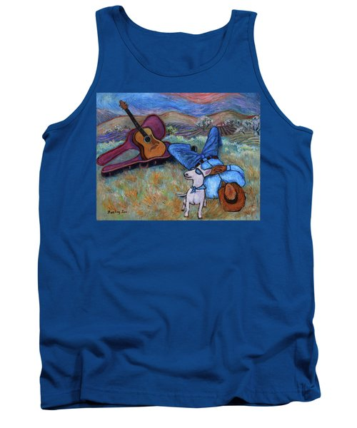 Guitar Doggy And Me In Wine Country Tank Top