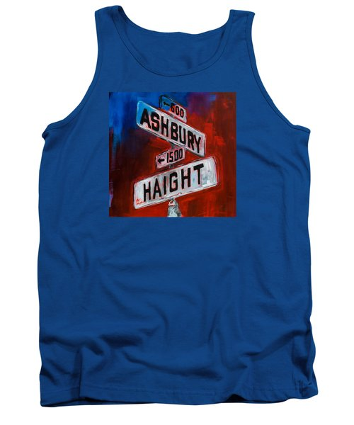 Haight And Ashbury Tank Top by Elise Palmigiani