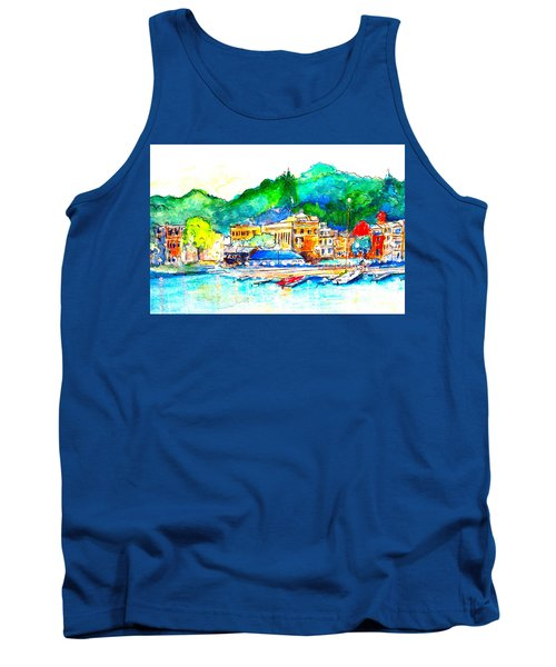 Halycon Days At The Blue Water Tank Top