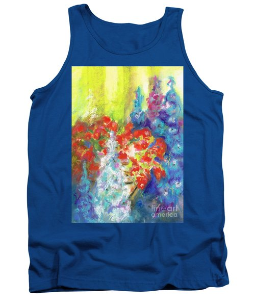 Hanging With The Delphiniums  Tank Top by Frances Marino