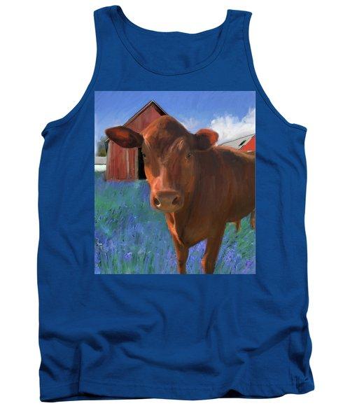 Happy Cow West Marin  Tank Top by Julianne Ososke