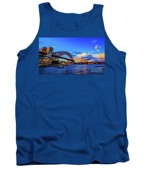 Tank Top featuring the photograph Harbor Bridge by Perry Webster