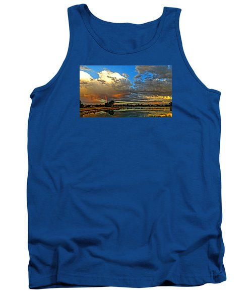 Tank Top featuring the photograph Harper Lake by Eric Dee