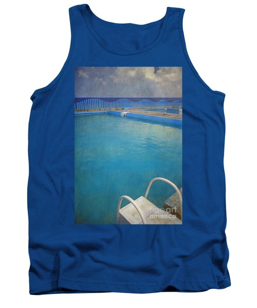 Tank Top featuring the photograph Havana Cuba Swimming Pool And Ocean by David Zanzinger