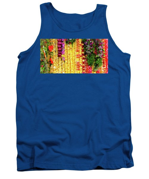 Hawaiian Flower Lei's Tank Top