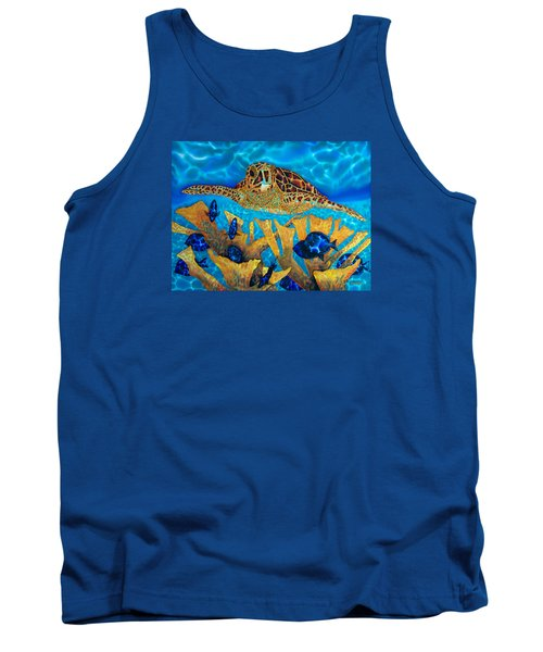 Hawksbill Sea  Turtle Tank Top