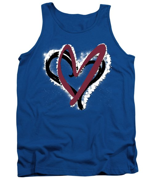 Hearts Graphic 6 Tank Top
