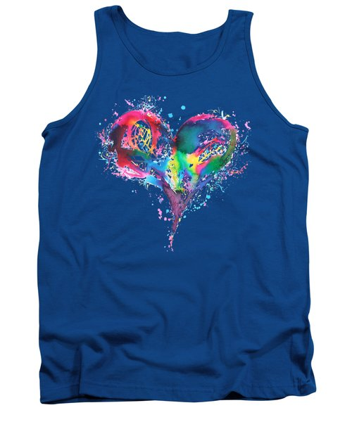 Hearts 6 T-shirt Tank Top by Herb Strobino