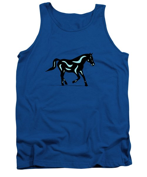 Heinrich - Pop Art Horse - Black, Island Paradise Blue, Greenery Tank Top