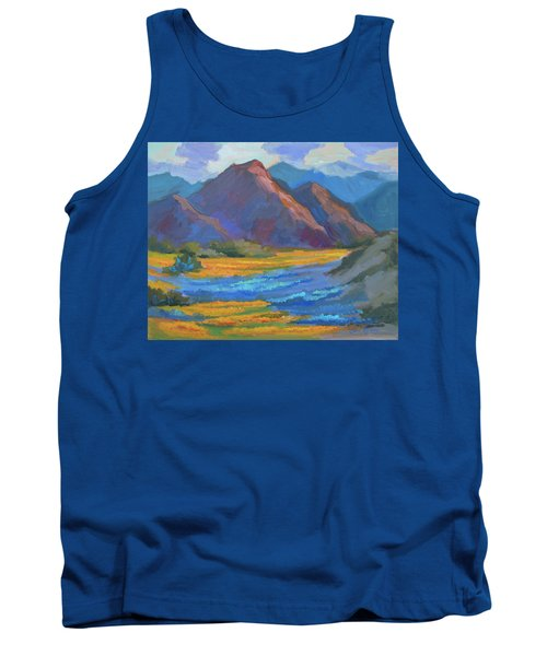 Tank Top featuring the painting Henderson Canyon Borrego Springs by Diane McClary