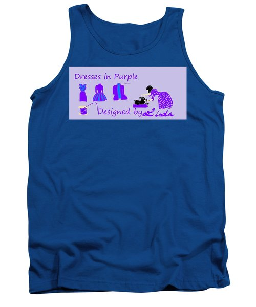 High Style Fashion, Dresses In Purple Tank Top