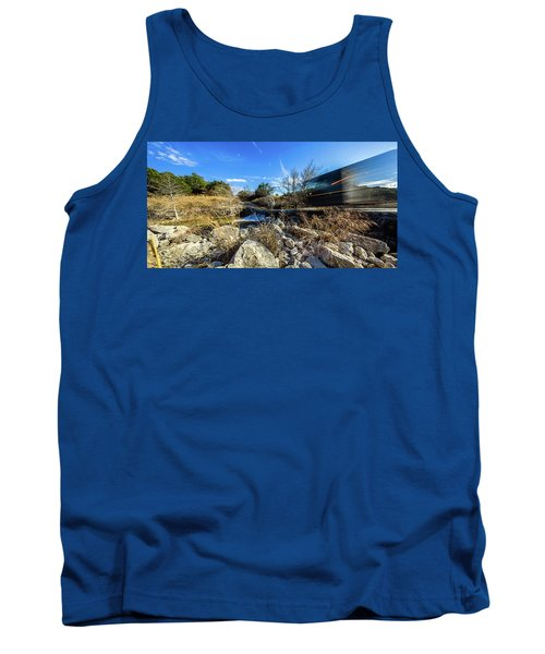 Hill Country Back Road Long Exposure #2 Tank Top by Micah Goff