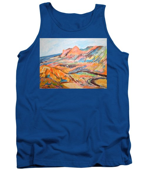 Hills Flowing Down To The Beach Tank Top by Esther Newman-Cohen